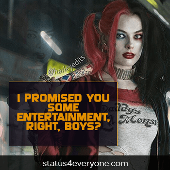 crazy harley quinn quotes