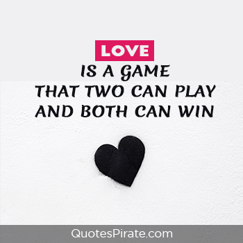 love is a game cute couple quotes