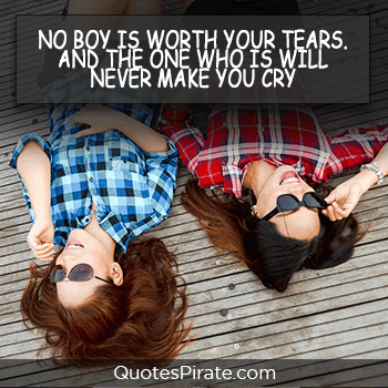 no boy is worth your tears cute quotes for girls