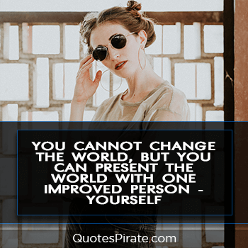 you cannot change the world but you can present the world cool quotes